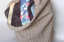 pikowana handmade czapka A1