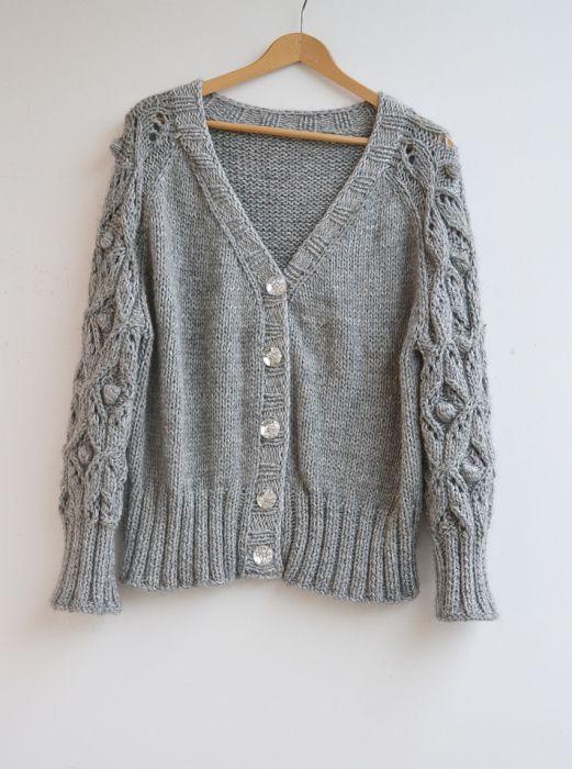 Szarak sweterek rozpinany