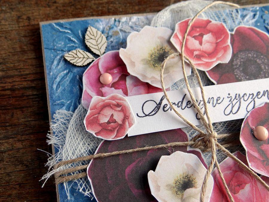 Serdeczne życzenia - różany wianek