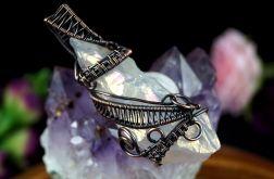 Kryształ górski miedziany wisior z kryształem