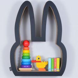 Półka na książki zabawki KRÓLIK | czarny