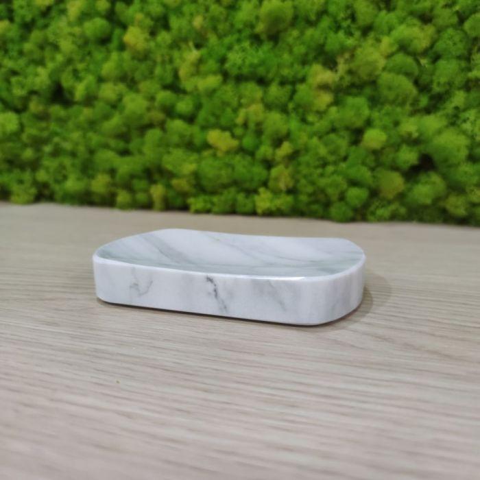 Mydelniczka Bianco Carrara Marmur 13x8cm -