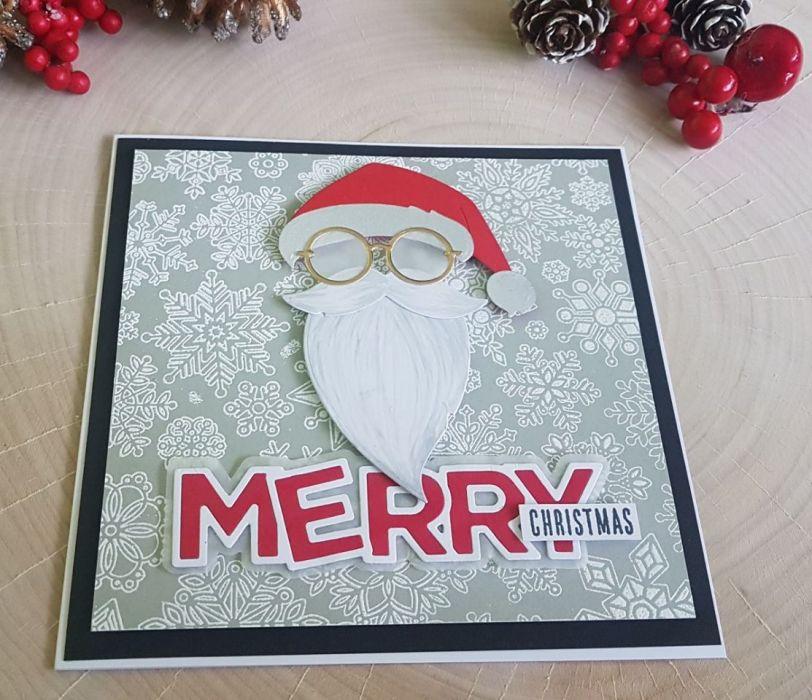 Karta świąteczna bożonarodzeniowa z mikołajem KH201211