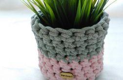 Koszyk 12x11cm sznurek bawełniany sza-róż