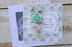 Kartka ślubna z personalizacją + pudełko a8