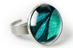 Big leaf pierścionek z ilustracją