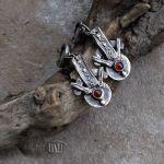 GRANATowy azymut - kolczyki z granatami
