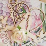 Kartka ślubna kopertówka -na ślubnym kobiercu - front