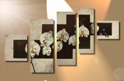 ORCHIDEA ,beże ręcznie malowany