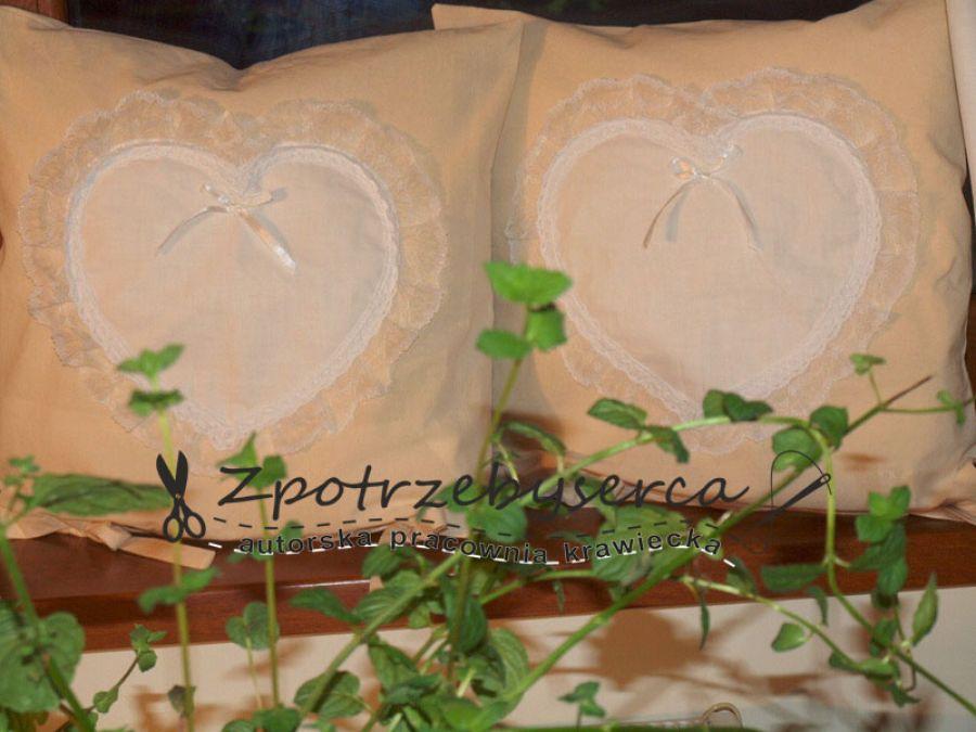 powłoczka-serce w bieli:)