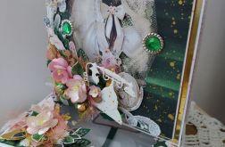 Kartka urodzinowa Lady z okienkiem