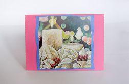 Kartka świąteczna ze świecami 1
