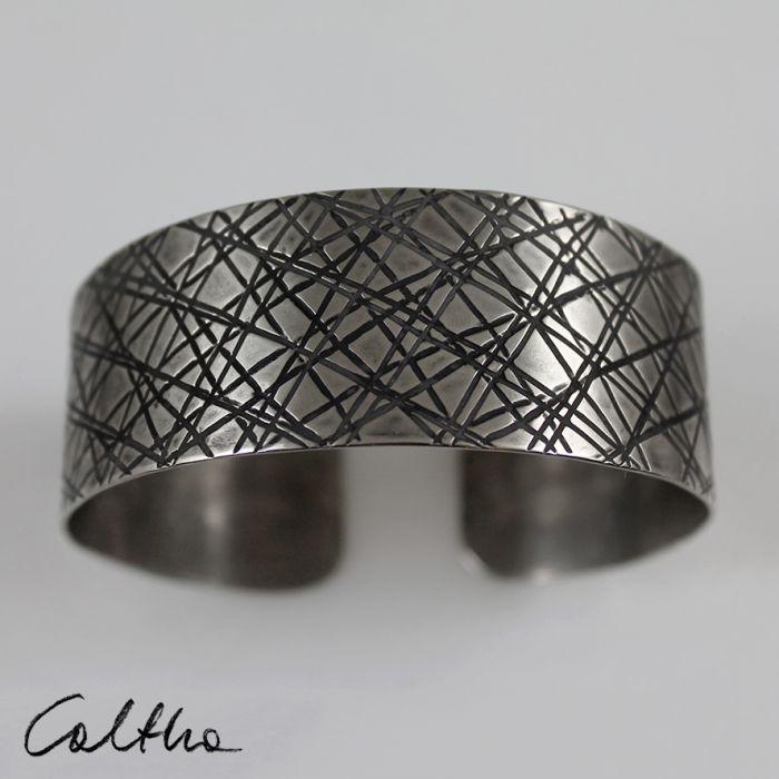 Metalowa bransoleta - skosy 171029-05 - Metalowa bransoletka
