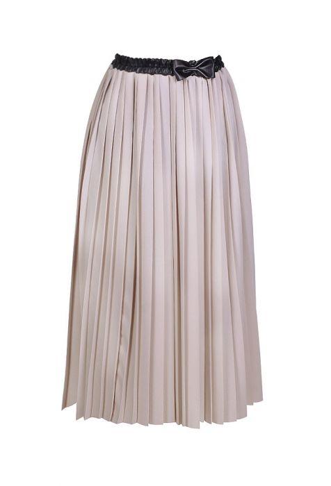 Plisowana spódnica z kaszmiru