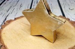 Rustykalna stojąca gwiazda złoto święta