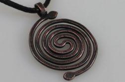Spirala - miedziany wisior 190422-02