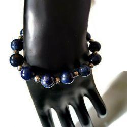 Bransoletka z lapis lazuli i hematytu