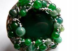 Zielone agaty,,projekt autorski,unikatowy