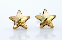 Kolczyki gwiazdy - Swarovski i srebro