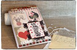 ~Od Ani~Vintage Scrapbooking NOTES ZESZYT PAMIĘTNIK ~CYRK~