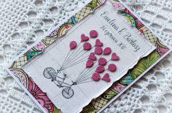 Tandem i baloniki - kartka personalizowana