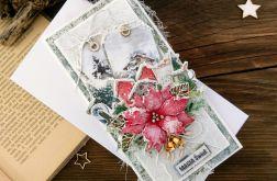 Kartka świąteczna z poinsecją