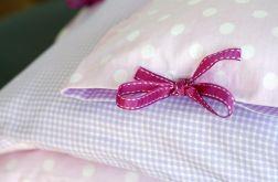 Pościel różowo-fioletowe pastele