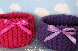 Komplet koszyczków amarant i fiolet