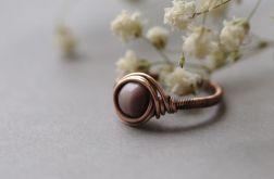 Aslaug - pierścionek boho