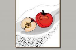 Czerwone jabłka - grafika do kuchni lub jadalni