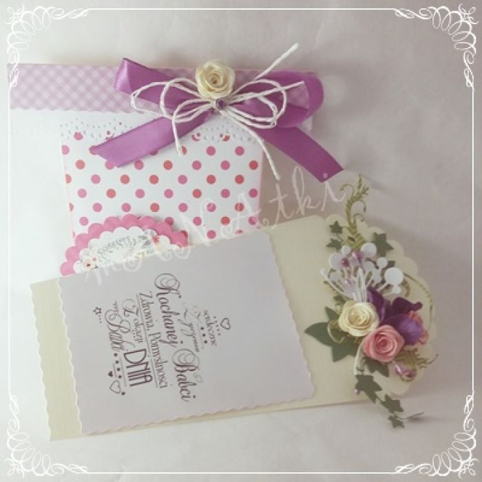 Kartka dla Mamy...doniczka pełna kwiatów -