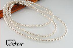 Naszyjnik Swarovski długi perły