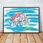 21x30cm Ładny plakat do pokoju dziecięcego