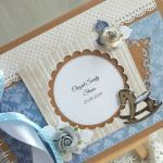 Księga gości roczek chrzest dla chłopca kraft