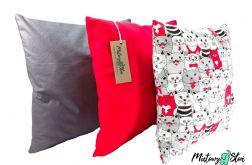 Komplet ~ 3 poduszki - koty