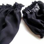 bluzka szyfonowa z rękawkami - zbliżenie na bluzkę i rękawki
