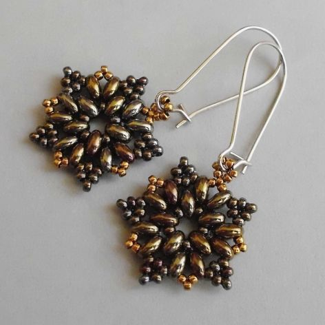 Rozetki brown iris & bronze