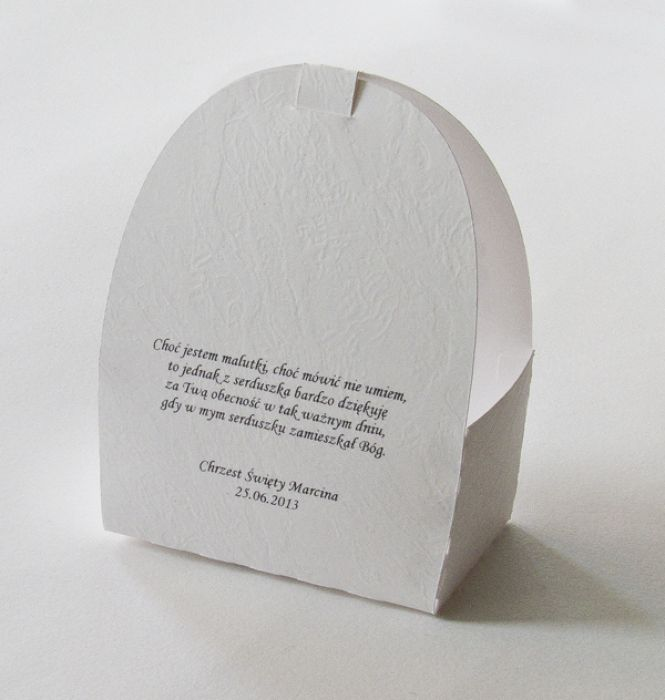 """Pudełeczko dla gości na chrzest """"W beciku"""" - podziękowania dla gości personalizowane"""