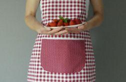 Fartuch kuchenny bordowa krateczka