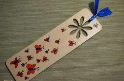 zakładka z kwiatem i motylkami