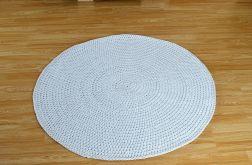 Dywan jasnoszary, okrągły, ze sznurka bawełni