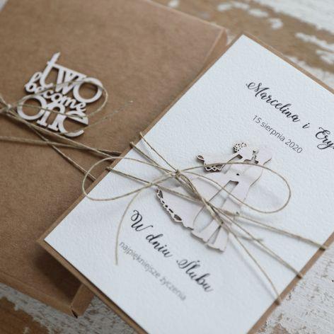 Oryginalna kartka ślubna i pudełko 4l