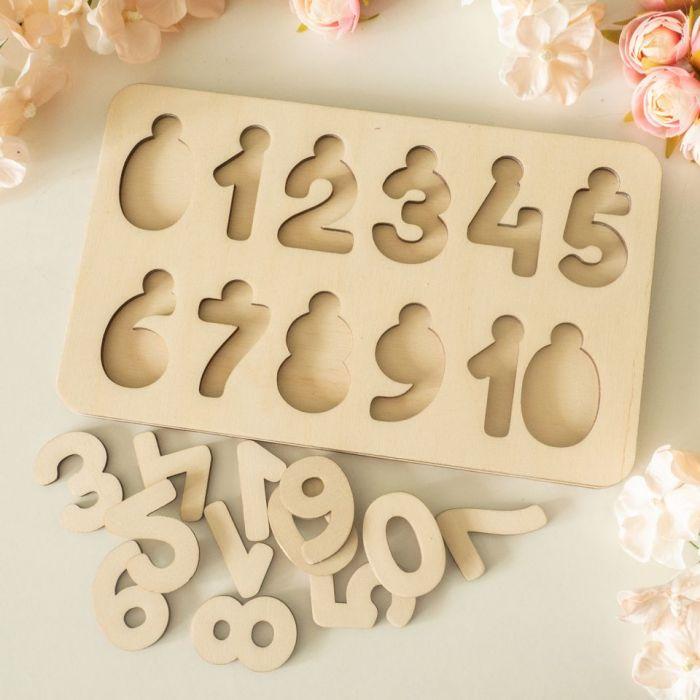 Układanka, puzzle - cyfry