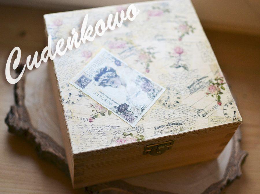 Szkatułka na Herbatę VINTAGE 15x18 cm -
