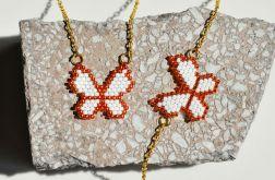 Komplet naszyjnik i bransoletka złoty motyl