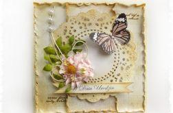 Kartka na Urodziny z motylkiem