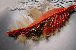 Jesienny liść - broszka