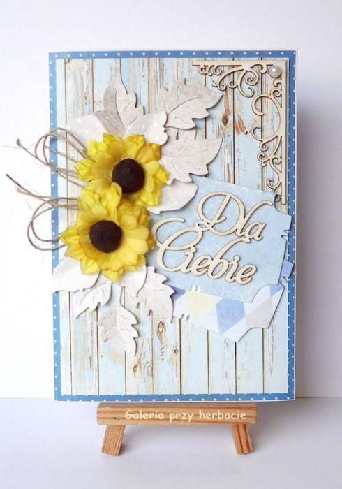 Kartka Dla Ciebie ze słonecznikami