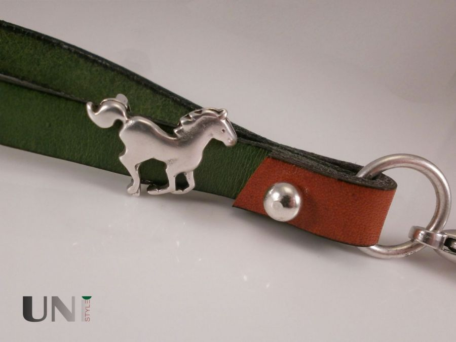 Brelok mini smycz koń jazda konna na prezent