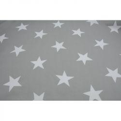 Obrus szary w gwiazdki140x200cm